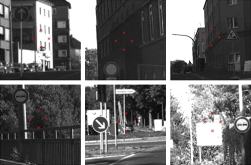 Convolutional neural network failed to distinguish key points on road signs