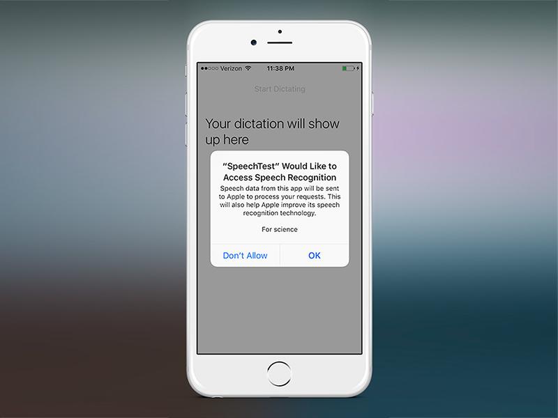 iOS 10: Speech Recognition