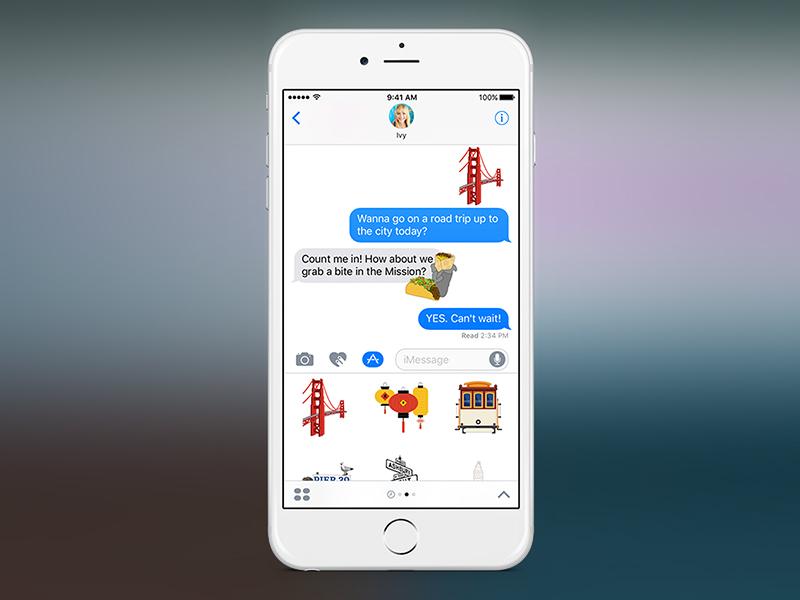 iOS 10: Stickers