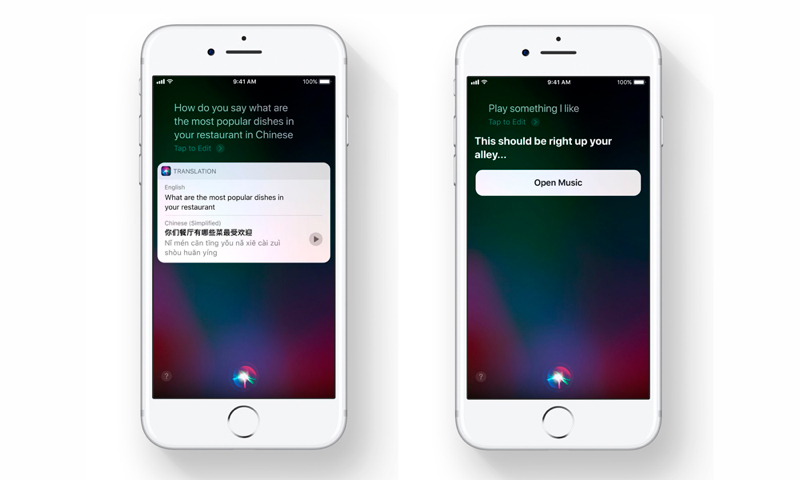 iOS 11 Siri launched on iPhone