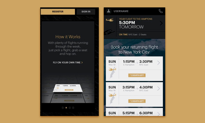 Uber-like Apps: Blade mobile application for private flights booking