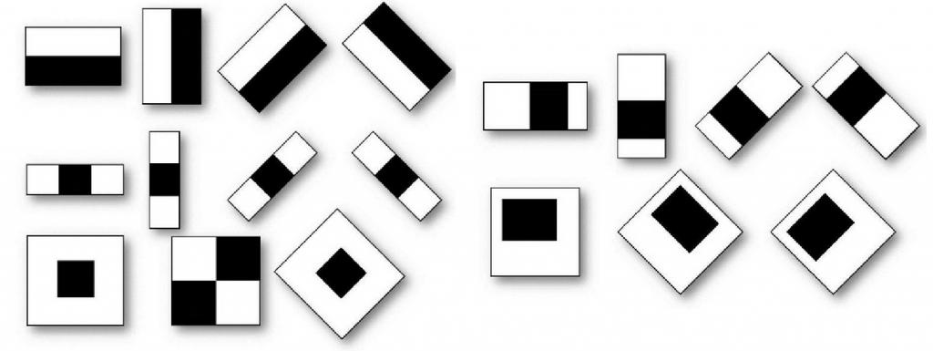 Haar basis functions used in Viola-Jones object detection
