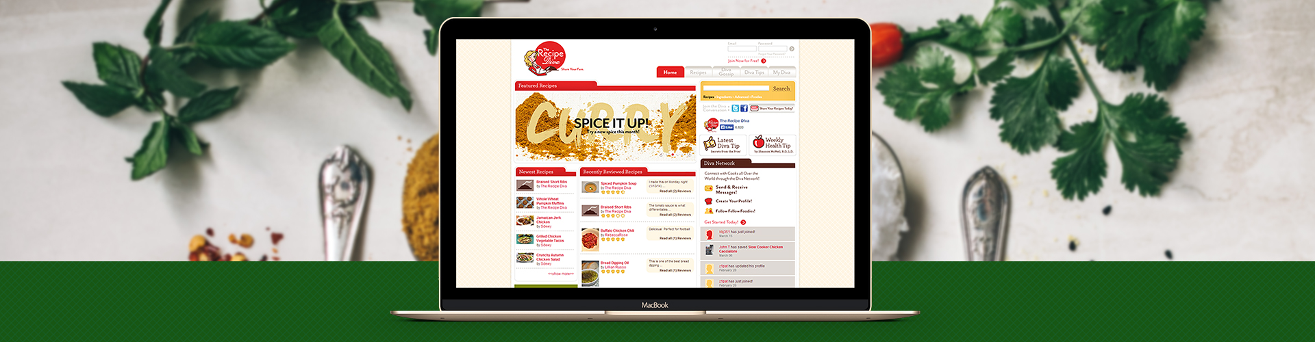 Social Network for On-line Cooking Community