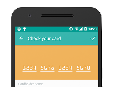 SDK for banking card recognition