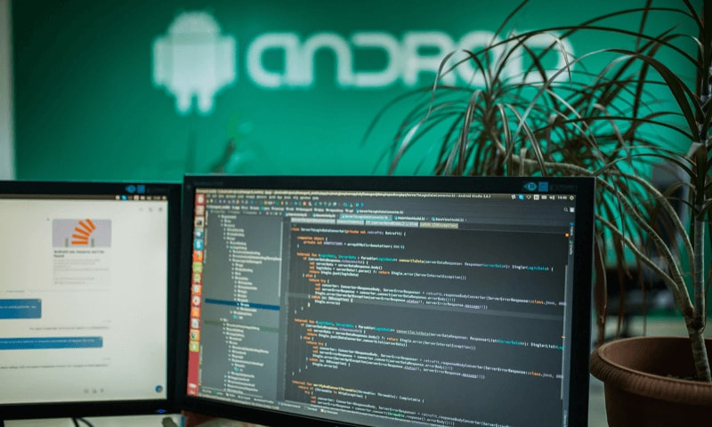 Android on the wall